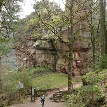 Anfahrt auf die Burg Blumenstein