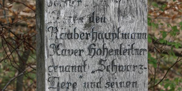 Text des Schwarzvere-Denkmals