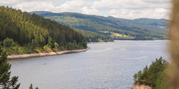 Blick über Schluchsee von Seebrugg