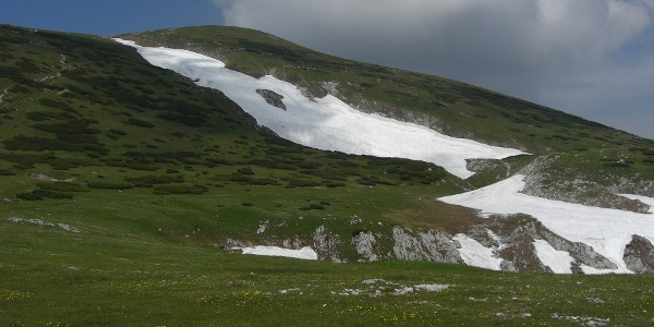 Vor uns der Aufstieg zur Heukuppe (19.06.2012)