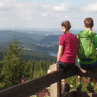 Vom Gipfel des Auersberges
