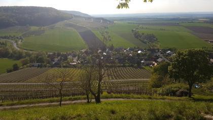Aussicht vom Schloßberg auf Castell