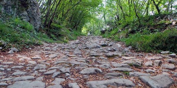 """Die römische Straße """"Brozzera"""" in Drena"""