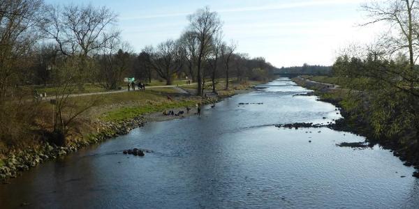 Wertach – von der Ackermann-Brücke gen Süden