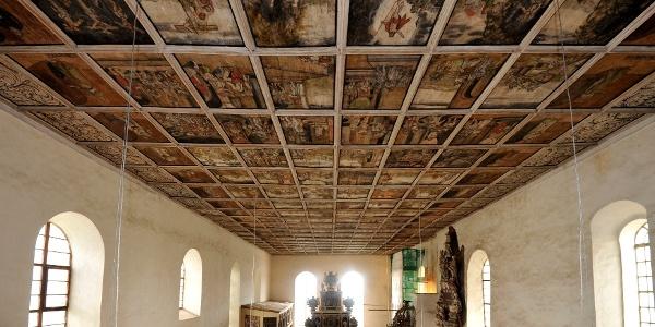 Wanddecke der Kirche Löbnitz