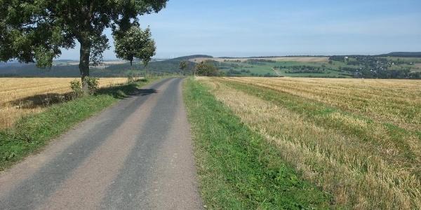 Erzgebirge Motorradstrecke bei Ammelsdorf