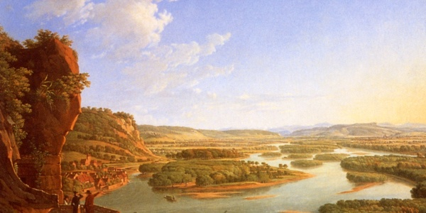 Our dream - Painting of Peter Birmann 1819 view from Isteiner Klotz