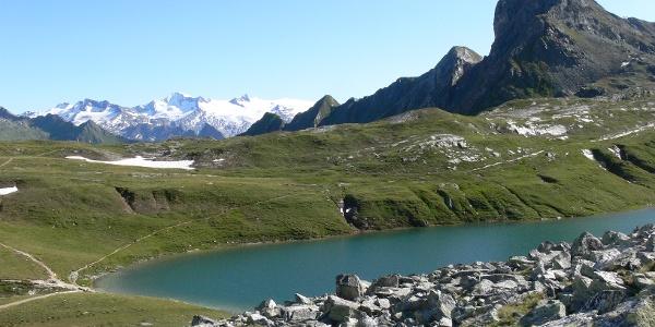 Gösslswand, Bödensee und Großvenediger.