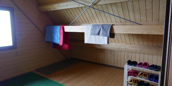 Lager in der Hütte