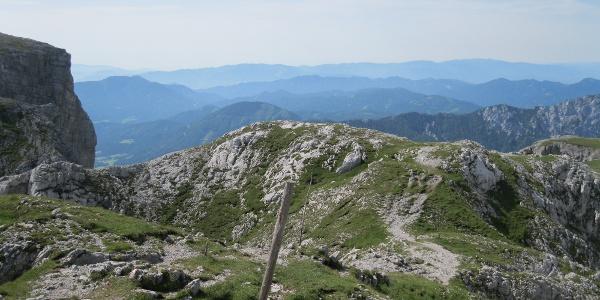 Richtung Hundsböden, links die Stangenwand (19.07.2012)