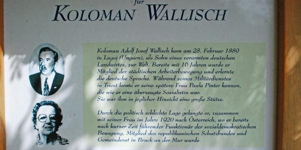Entlang des Weges auf den Eisenpass gibt es eine Serie von Schautafel zu Koloman Wallisch