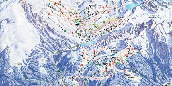 Pistenpanorama Skiregion Hochoetz-Kühtai