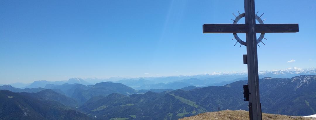 Gipfelkreuz auf dem Vorderunnütz