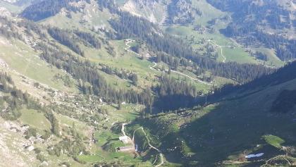 Blick zum Taubensteinhaus von Rotwand aus
