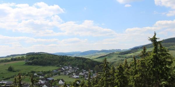 Traumhafter Panoramblick vom Opolt in Dreislar