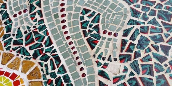 """Mosaik auf der Olefmauer - Projektidee & Durchführung """"You are welcome"""""""