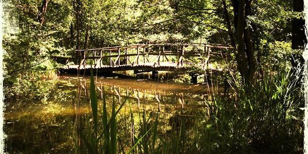 Holzbrücke über der Schaale bei Zarrentin