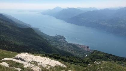 Vista del lago di Garda da Ponte di Vo