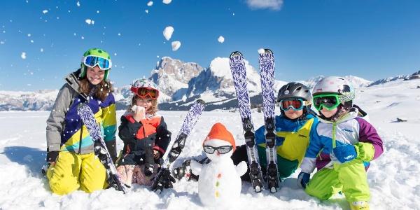 All'Alpe di Siusi sciare è un piacere per tutta la famiglia
