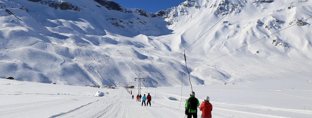 Im Skigebiet Engstligenalp