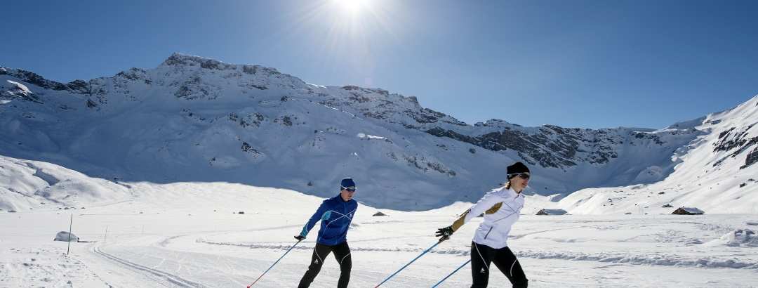 Lauglaufen im Skigebiet Engstligenalp