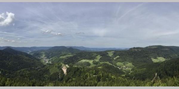 Aussicht ins Renchtal und über den Schwarzwald
