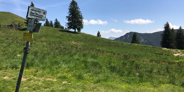 Letzter Abzweig vor dem Gipfel