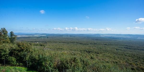 Ein Teil des Panoramas des  Kinizsi Pál-Aussichtsturmes