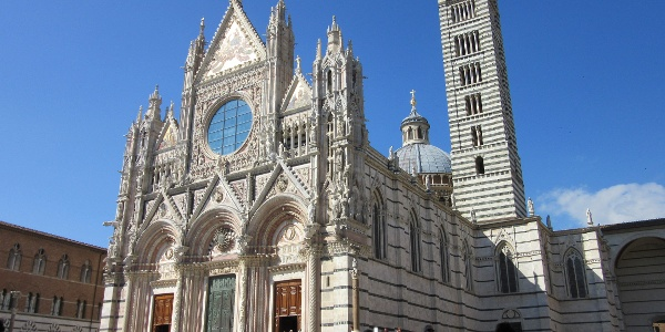 Siena your final destination. You made it! (This is the Duomo)