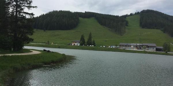 Startplatz direkt beim Teichalm-See.