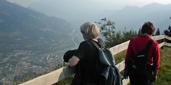 Ausblick von den Spundisköpf ins Churer Rheintal