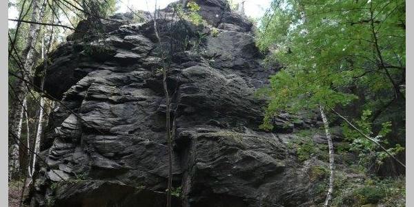 Poppenstein an der Geigenbachtalsperre