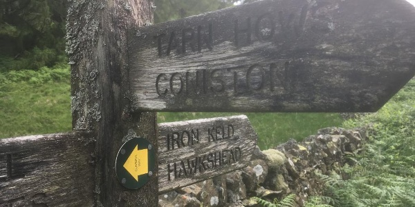 Cumbria Way markers