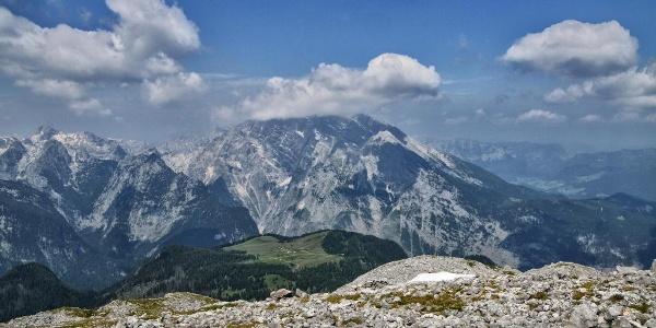 Blick vom Kahlersberg über die Gotzenalm zum Watzmann