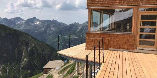 Terrasse des neuen Waltenberger-Hauses