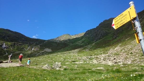 Blick zurück zum Passo Predelp
