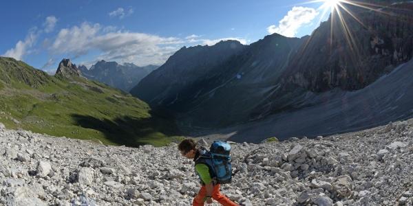 Anstieg von der Tribulaunhütte zur Pflerscher Scharte