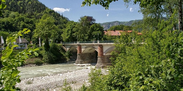Ausgangspunkt der Mountainbiketour: Die Luitpoldbrücke Bad Reichenhall