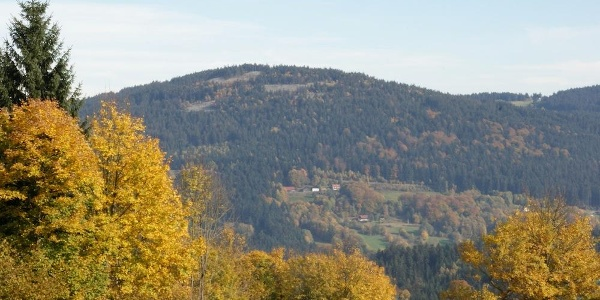 Fernsicht zur Käsplatte von Riedelswald