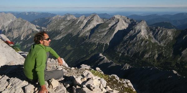 Am höchsten Punkt des Karwendelgebirges