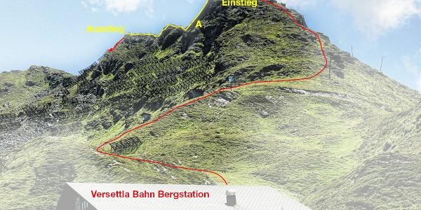 Topo Klettersteig Burg