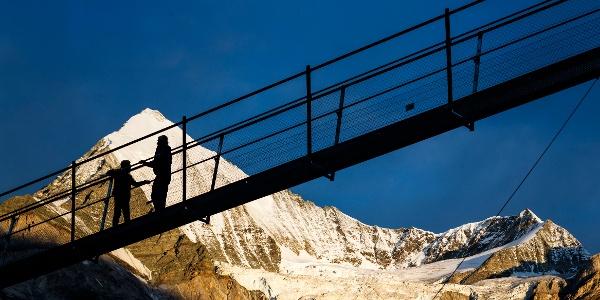 This is a world record: The longest suspension bridge in the world above Randa and near Zermatt.