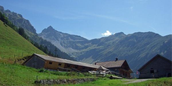Alpenlandschaften bei der Alp Gamidaur