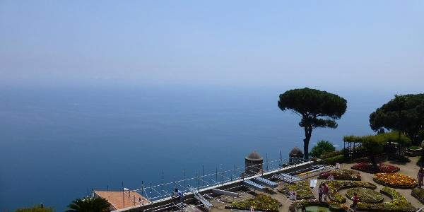 Villa Rufolo offers stunning views over the Amalfi coastline.