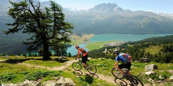 Blick auf die Oberengadiner Seen