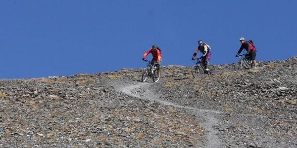 Trail Richtung Fuorcla Schlattain