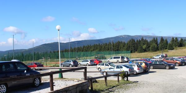 Parkplatz im Spindlerpass.