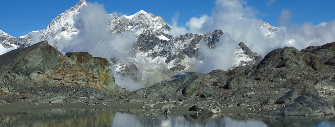 Auf dem Glacier Trail bei Zermatt.