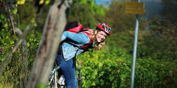 Mountainbiken im Weingarten - weinfranz.at