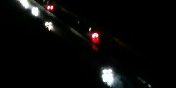 Die Europabrücke bei Nacht
